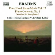 Johannes Brahms - Four Hand Piano Music Volume 17 | Naxos 8555849