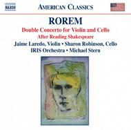 Ned Rorem - Double Concerto for Violin Cello and Orchestra, After Reading Shakespeare for Solo Cello | Naxos - American Classics 8559316