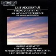 Segerstam - String Quartet, Six Songs of Experience | BIS BISCD039