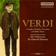 Verdi - Complete Preludes, Overtures and Ballet Music | Chandos - Classics CHAN103434X