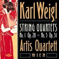 Weigl - String Quartets No.1 op.20, & No.5 op.31 | Nimbus NI5646