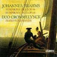 Brahms - Symphonies No.1 & No.4 (for Piano Four Hands)