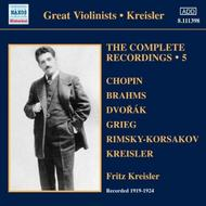 Fritz Kreisler: Complete Recordings Vol.5