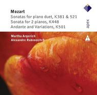 Mozart - Sonatas for 2 Pianos/Piano Duet, Andante and Variations