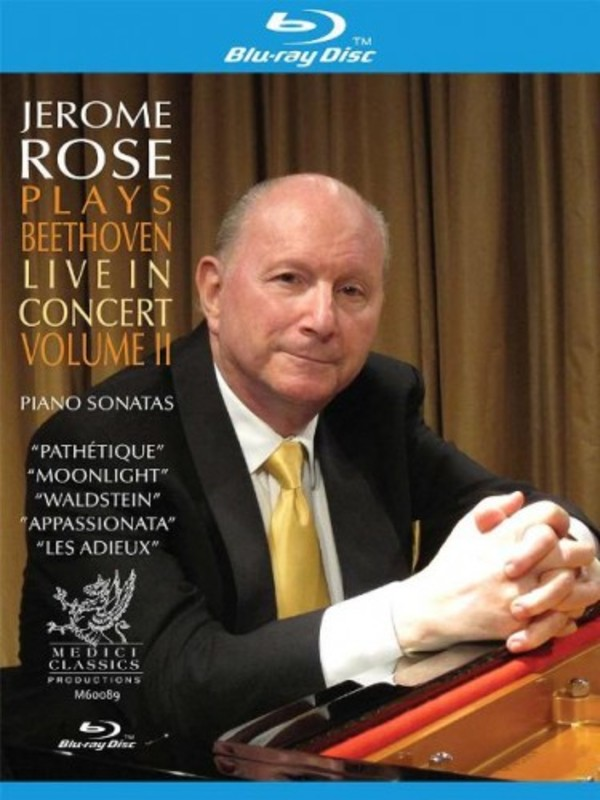 Jerome Rose plays Beethoven: Live in Concert Vol 2 | Blu-ray