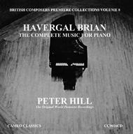Havergal Brian - The Complete Music for Piano Vol.8 | Cameo Classics CC9016CD