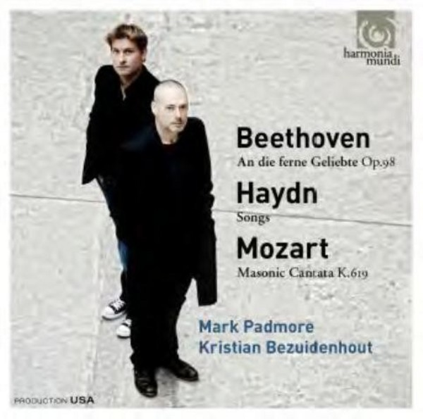 Mark Padmore sings Mozart, Beethoven and Haydn | Harmonia Mundi HMU907611