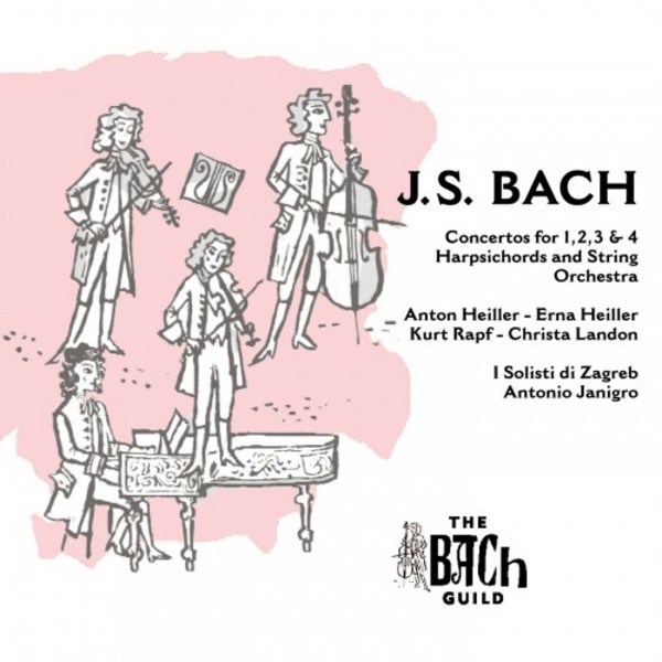 J S Bach - Concertos for 1, 2, 3 & 4 Harpsichords | Vanguard 9201045