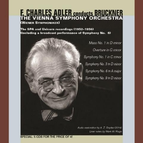 F Charles Adler conducts Bruckner | Music & Arts MACD1283
