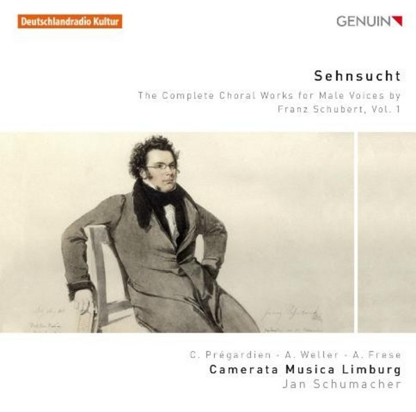 Sehnsucht: The Complete Choral Works for Male Voices by Franz Schubert Vol.1 | Genuin GEN15349