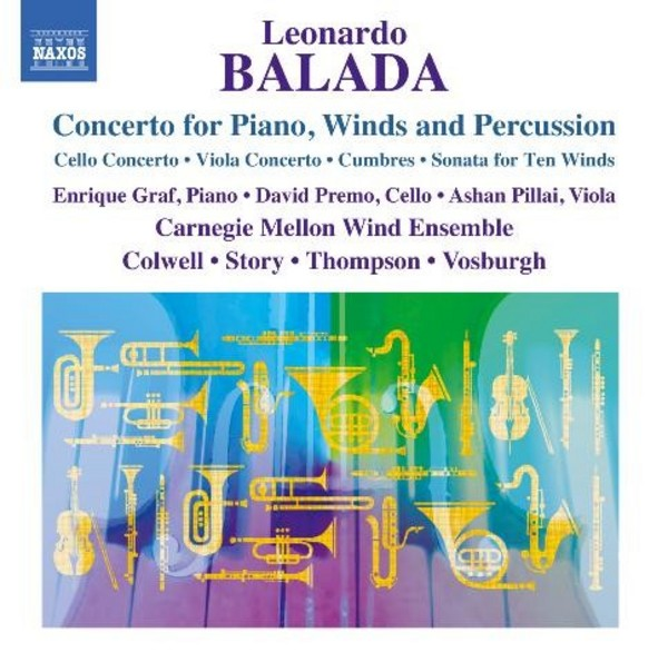 Leonardo Balada - Concerto for Piano, Winds & Percussion, and other works | Naxos 8573064