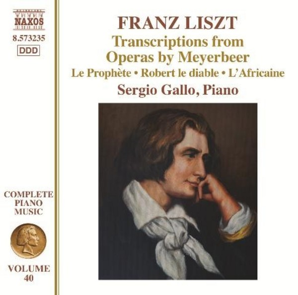 Liszt - Complete Piano Music Vol.40: Transcriptions from Meyerbeer Operas | Naxos 8573235
