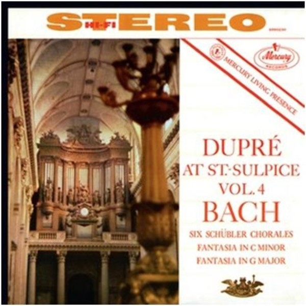 Marcel Dupre at Saint-Sulpice Vol.4: J S Bach