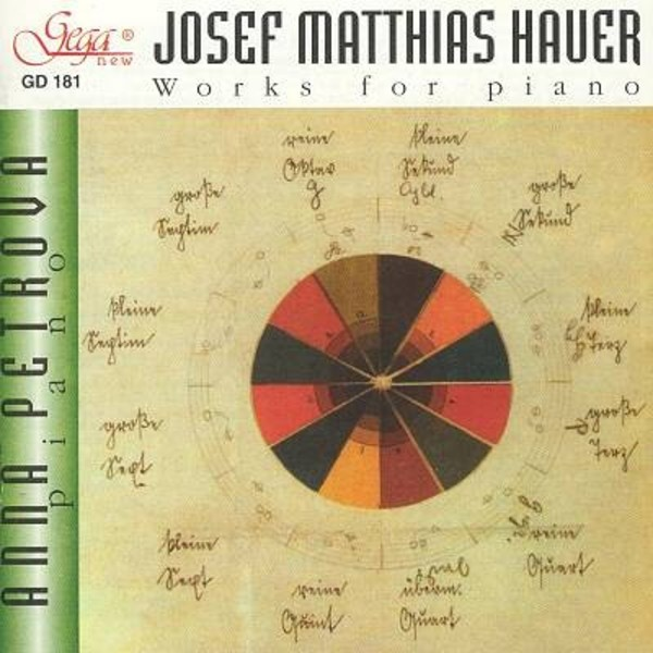 Josef Matthias Hauer - Works for Piano | Gega New GD181