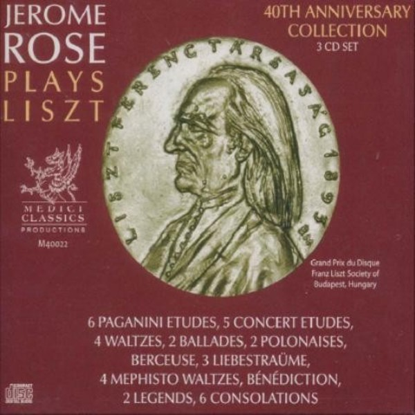 Jerome Rose plays Liszt | Medici Classics M40022