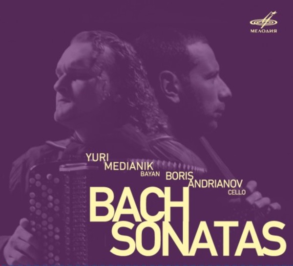 Bach - Sonatas arranged for cello & bayan | Melodiya MELCD1002411