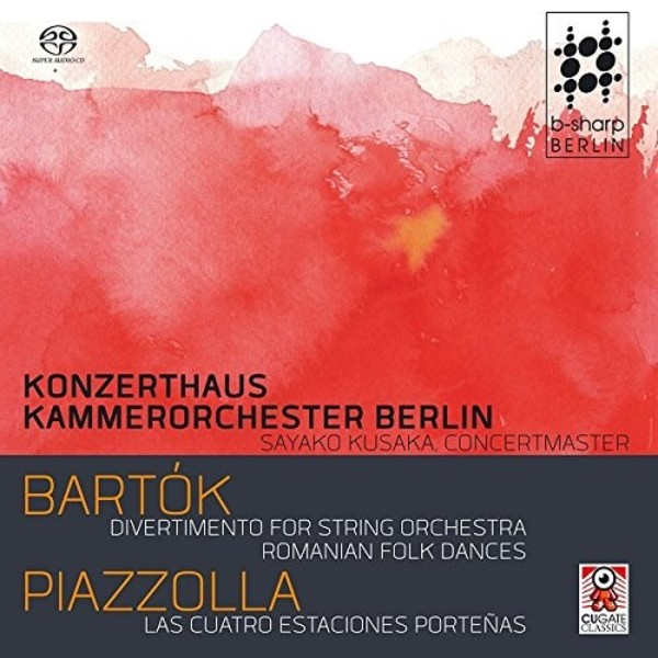 Bartok - Divertimento for Strings, Romanian Folk Dances; Piazzolla - The Four Seasons | CuGate Classics CGC012