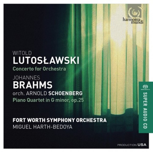 Lutoslawski - Concerto for Orchestra; Brahms orch. Schoenberg - Piano Quartet op.25