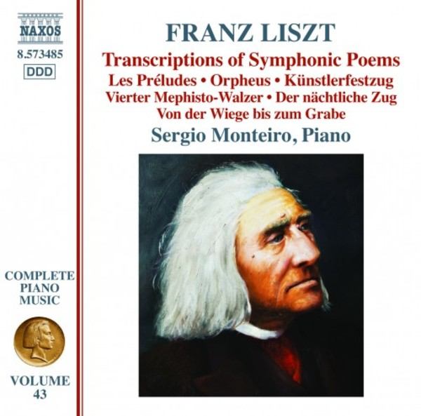 Liszt - Complete Piano Music Vol.43: Transcriptions of Symphonic Poems | Naxos 8573485