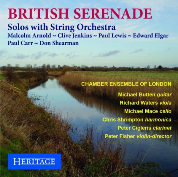 British Serenade - Solos with String Orchestra | Heritage HTGCD204