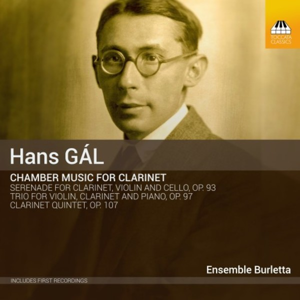 Hans Gal - Chamber Music for Clarinet | Toccata Classics TOCC0377