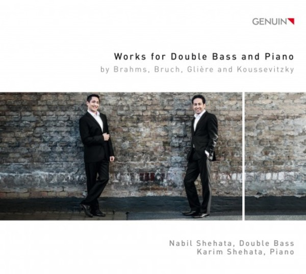 Works for Double Bass and Piano by Brahms, Bruch, Gliere & Koussevitzky | Genuin GEN17448