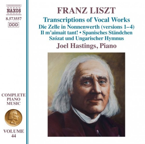 Liszt - Complete Piano Music Vol.44: Transcriptions of Vocal Works | Naxos 8573557