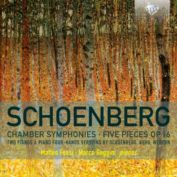 Schoenberg - Chamber Symphonies, Five Pieces op.16 (arr. for piano duet) | Brilliant Classics 94957