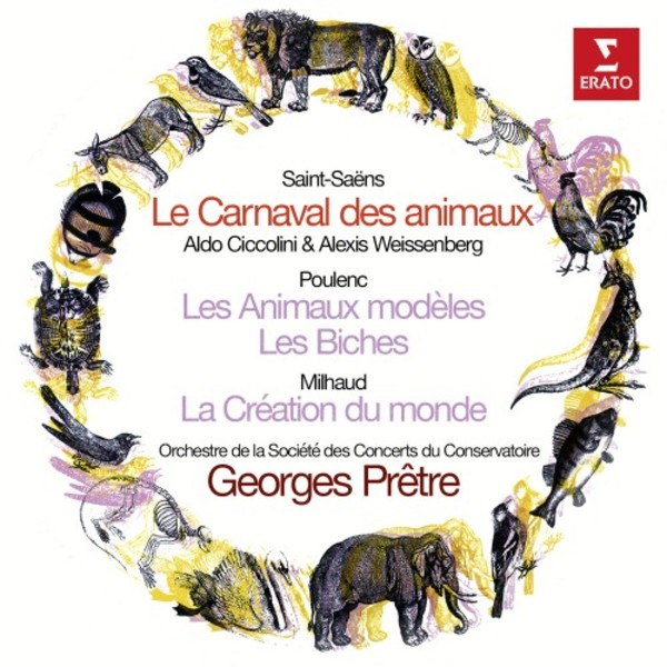 Saint-Saens - Le Carnaval des animaux; Works by Poulenc & Milhaud | Warner - Original Jackets 9029589513