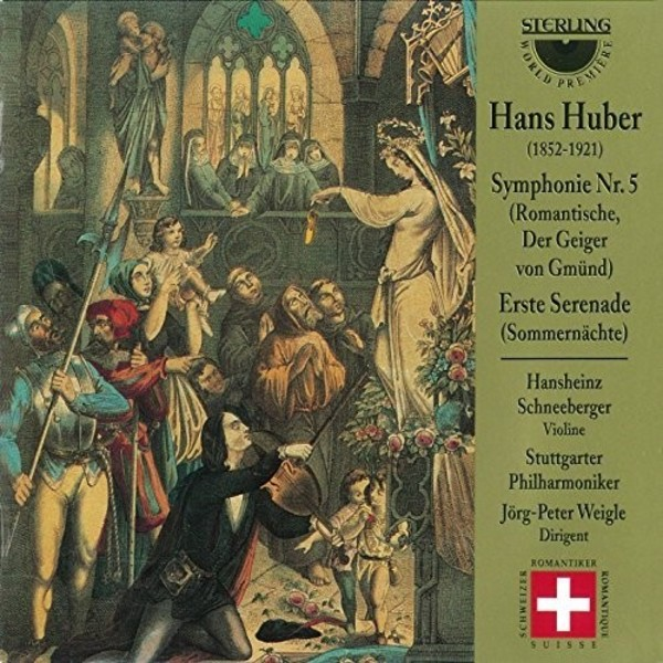 Hans Huber - Symphony no.5 (The Fiddler of Gmund), Summer Nights | Sterling CDS1027