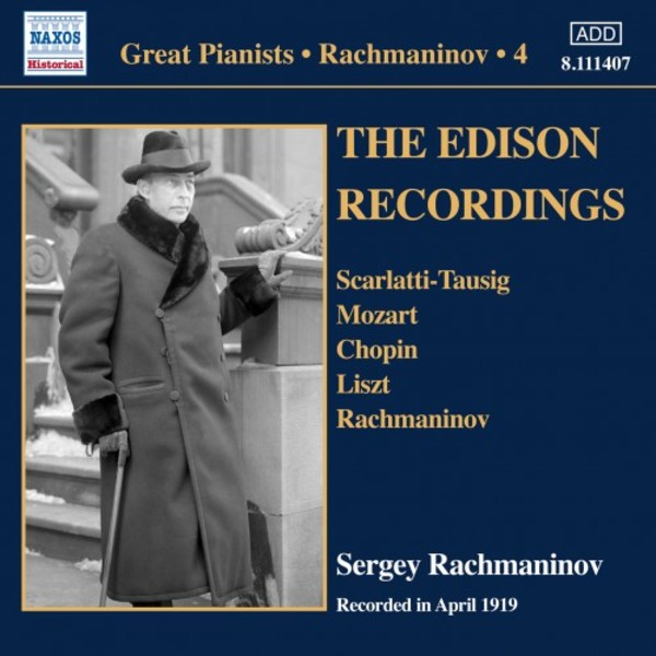 Great Pianists: Rachmaninov Vol.4 - The Edison Recordings, April 1919