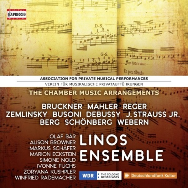 Verein fur musikalische Privatauffuhrungen: The Chamber Music Arrangements