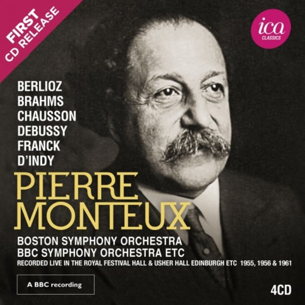 Pierre Monteux conducts Berlioz, Brahms, Chausson, Debussy, Franck & d'Indy | ICA Classics ICAC5150