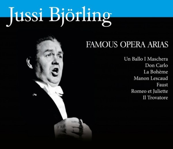 Jussi Bjorling: Famous Opera Arias | Bluebell 7330658514363