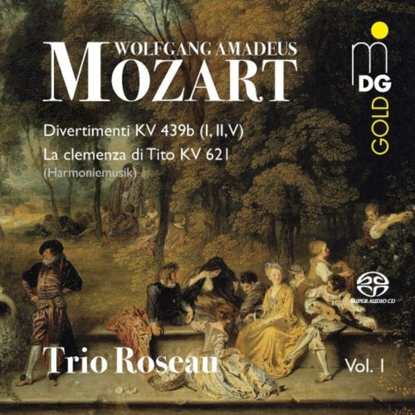 Mozart - 3 Divertimenti, La clemenza di Tito for Wind Trio