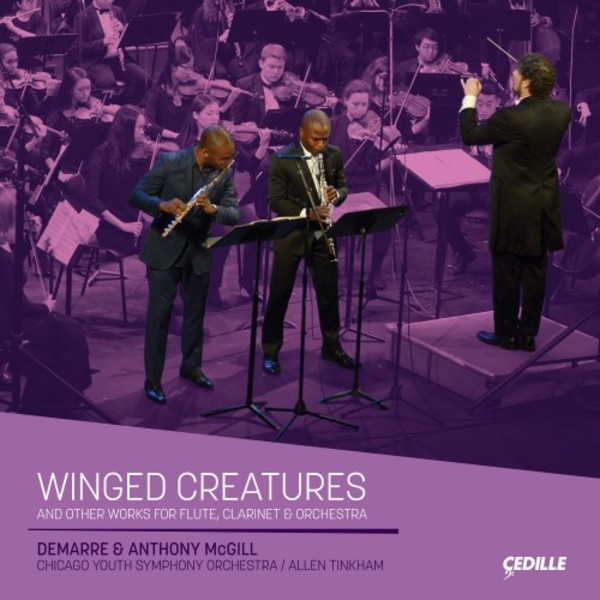 Winged Creatures and other works for Flute, Clarinet & Orchestra | Cedille Records CDR90000187