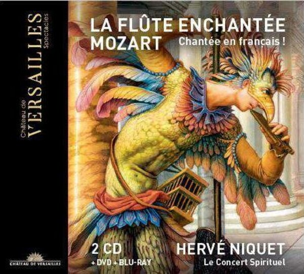 Mozart - La Flute enchantee (CD + DVD + Blu-ray)