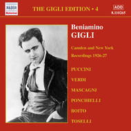 Gigli Edition vol.4 - Camden and New York Recordings (1926-1927) | Naxos - Historical 8110265