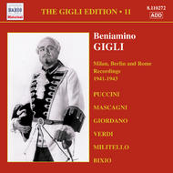 Gigli Edition vol.11 - Milan, Berlin and Rome Recordings (1941-1943) | Naxos - Historical 8110272