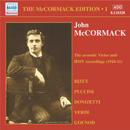 The McCormack Edition Vol.1 1910 Acoustic Recordings | Naxos - Historical 8110328