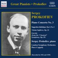 Prokofiev - Piano Concerto no.3, Visions fugitives, Suggestion Diabolique, Sonatine Pastorale | Naxos - Historical 8110670