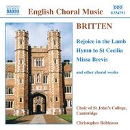 Britten - Rejoice in the lamb, Hymn to St. Cecilia