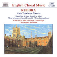 Rubbra - Nine Tenebrae Motets, Magnificat and Nunc Dimittis | Naxos - English Choral Music 8555255