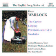Warlock - Curlew, Lillygay, Peterisms, Saudades (English Song, vol. 4)