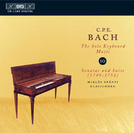 C.P.E. Bach Solo Keyboard Music Volume 10 | BIS BISCD1189