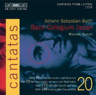 J. S Bach – Cantatas Volume 20 (BWV 184, 173, 59, 44) | BIS BISCD1271