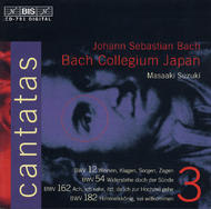 J S Bach – Cantatas Vol.3 (BWV12, 54, 162, 182) | BIS BISCD791