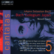 J. S. Bach – Cantatas, Volume 5 (BWV 18, 143, 152, 155, 161) | BIS BISCD841