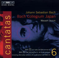 J. S. Bach – Cantatas, Volume 6 (BWV 21, 31) | BIS BISCD851