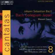 J. S. Bach – Cantatas, Volume 8 (BWV 22, 23, 75) | BIS BISCD901
